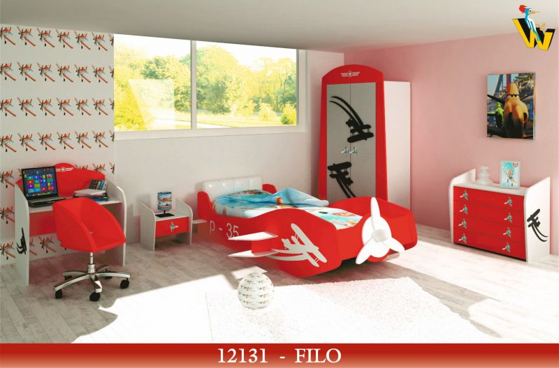 FILO KIDS AIRPLANE SHAPED BEDROOM SET