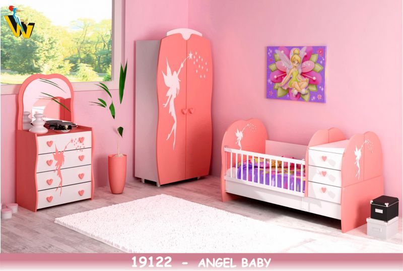 ANGEL BABY ROOM WITH TRANSFORMABLE BED