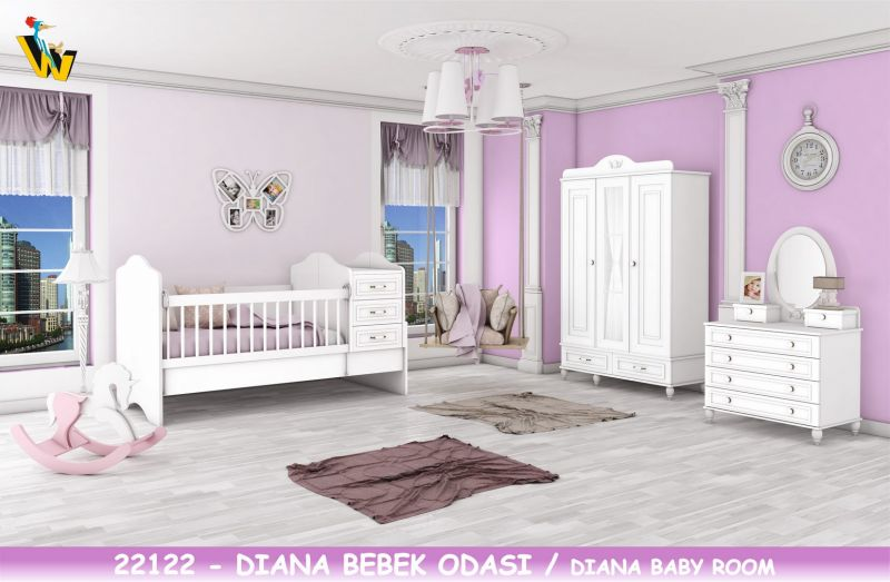 DIANA BABY ROOM WITH TRANSFORMABLE BED